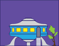 UFO house Royalty Free Stock Images