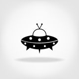 UFO Icon. UFO Flying Saucer Royalty Free Stock Photo