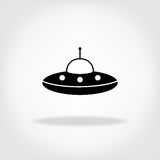 UFO Icon. UFO Flying Saucer Royalty Free Stock Photography