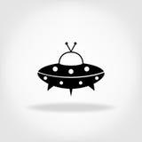 UFO-Ikone UFO-fliegende Untertasse Lizenzfreies Stockfoto