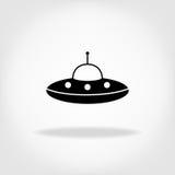 UFO-Ikone UFO-fliegende Untertasse Lizenzfreie Stockfotografie