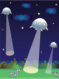 UFO illustration Stock Images