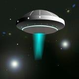 UFO im Himmel Stockbild