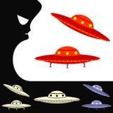 UFO Insieme degli oggetti Fotografia Stock