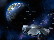 UFO invasion Royalty Free Stock Photo