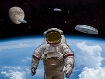 UFO Invasion Earth Royalty Free Stock Photography