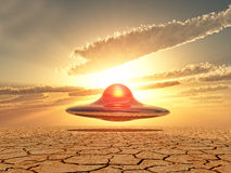 Ufo landing Royalty Free Stock Photography