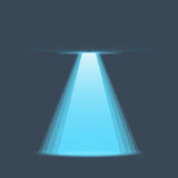UFO light vector. Alien sky beams. Royalty Free Stock Image