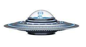 Ufo lub obcy statek kosmiczny ilustracji