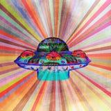 UFO luminoso dell'estratto di colore Fotografia Stock