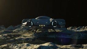 UFO on the Moon.
