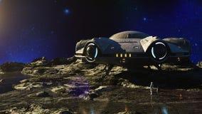 UFO na księżyc ilustracja wektor