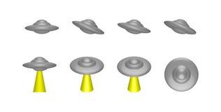 UFO, nave straniera, illustrazione vettoriale