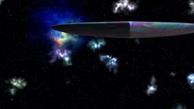 UFO necrópolis Estrellas ilustración del vector