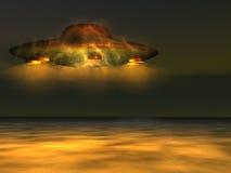 UFO - Nicht identifizierte Flugwesen-Nachricht Lizenzfreie Stockbilder