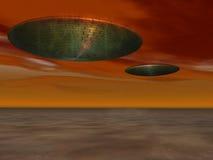 UFO - Niet geïdentificeerd Vliegend Voorwerp Royalty-vrije Stock Afbeeldingen