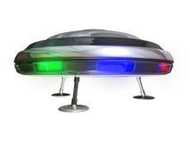 UFO no branco Imagens de Stock Royalty Free