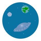 UFO no espaço Foto de Stock Royalty Free