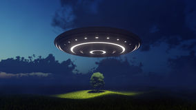 Ufo over nature Royalty Free Stock Photos