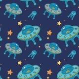 Ufo pattern Stock Image