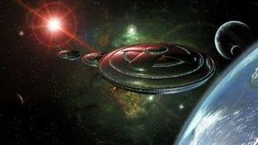 UFO przestrzeń ilustracja wektor