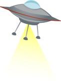 UFO que tira la viga amarilla libre illustration