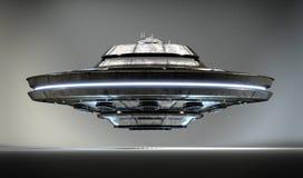UFO realístico no estúdio ilustração do vetor