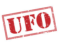 Ufo red stamp Stock Image