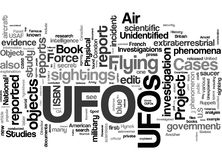 UFO related words cloud Stock Images