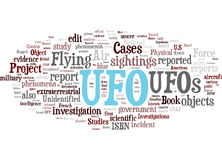 UFO related words cloud Stock Photo