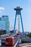 Ufo restauracja, Nowy most, Bratislava, Sistani Obraz Royalty Free