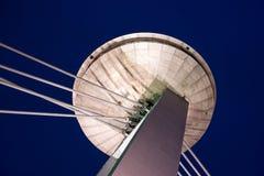 Ufo-restaurang på den nya bron Royaltyfri Foto