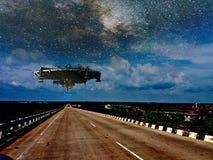 UFO ruimteschip stock foto's