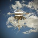 Ufo-rymdskepp Fotografering för Bildbyråer