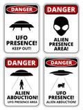 UFO-Schiffe stock abbildung