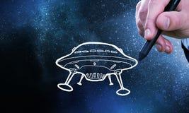 UFO ship Stock Photography