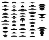 UFO ships Royalty Free Stock Images