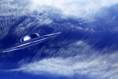 UFO in sky Royalty Free Stock Photo