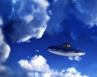 UFO In Sky 16 royalty free stock photos