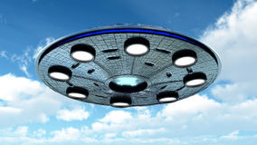 UFO in the sky Royalty Free Stock Images