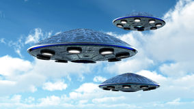 UFO in the sky Stock Photo