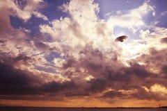 UFO in the sky Stock Photo