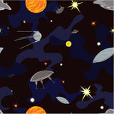 UFO in the space. Stock Images