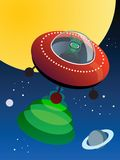 UFO in space, Stock Photography