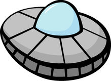 ufo space ship vector illustration Royalty Free Stock Image
