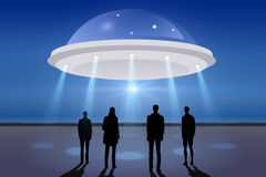 UFO spacecraft in the sky Stock Photography