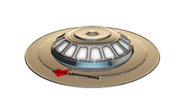 Ufo spaceship Stock Photography