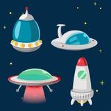 UFO Spaceship Cartoon Design Set Vector Royalty Free Stock Photos
