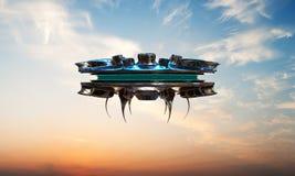 Ufo spaceship Stock Photography