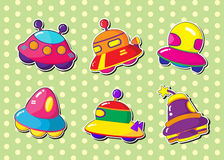 Ufo stickers Stock Photos